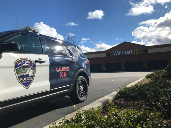 Redding police went to Walmart on Saturday afternoon after getting a report that a man assaulted a Girl Scout while cookies were being sold.