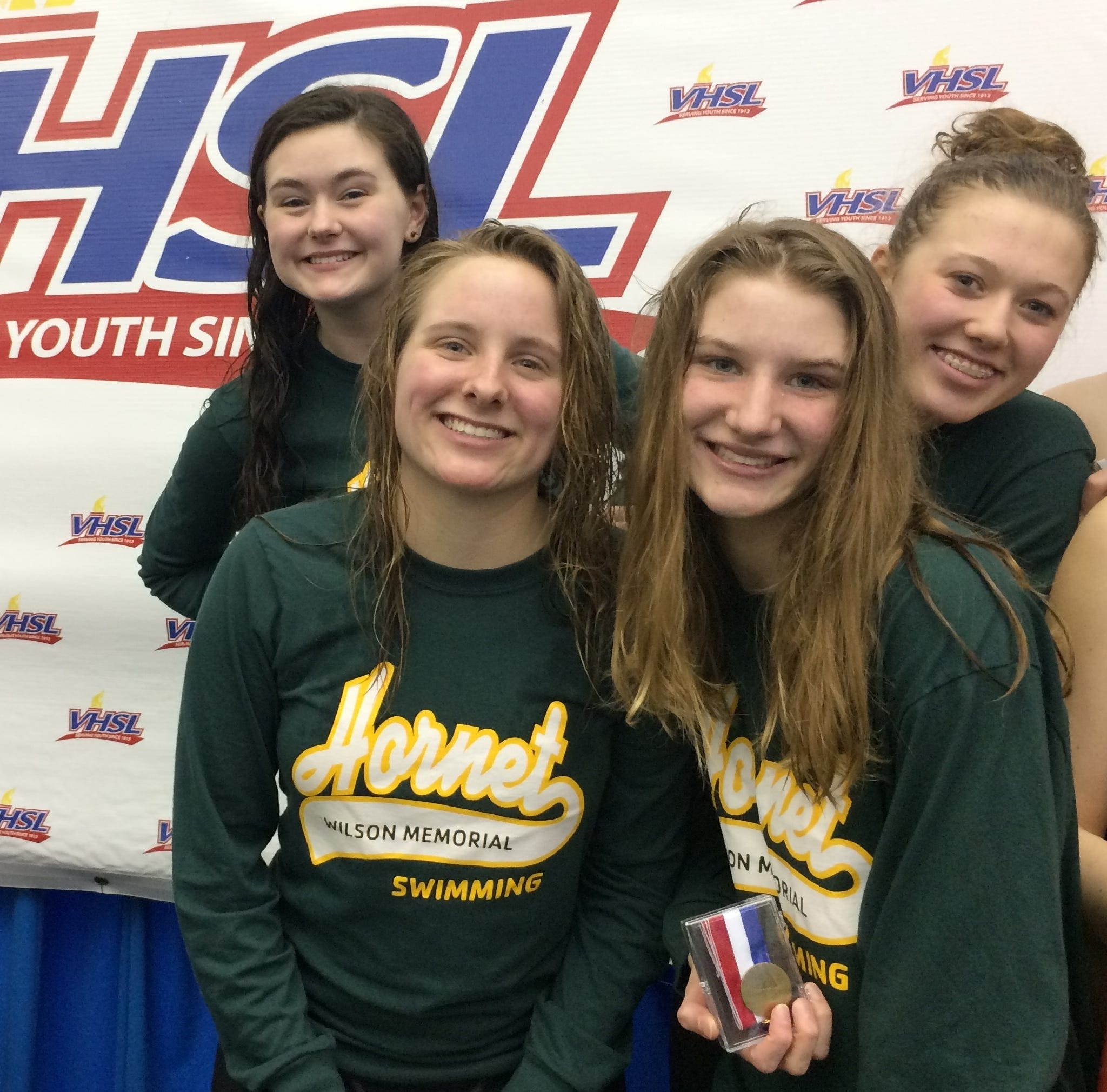 Wilson's 400 free relay team places third in state