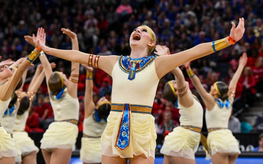 Sartell dancers compete Saturday, Feb. 16, during the Minnesota Dance Team High Kick finals at the Target Center in Minneapolis.
