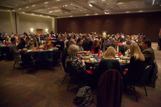 Republicans gather at the Dixie Convention Center for the annual Lincoln Day Dinner Saturday, Feb. 16, 2019.