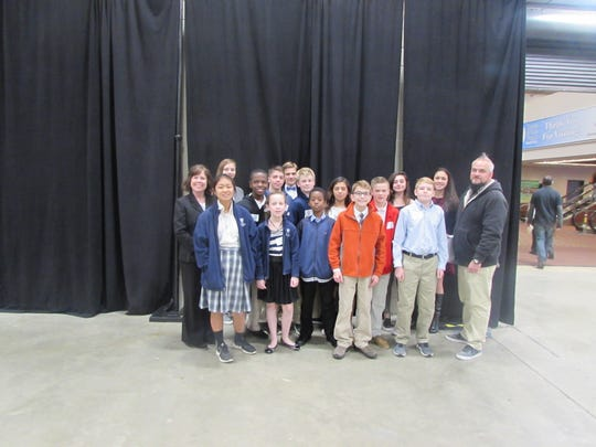 Trinity Catholic School 7th graders competed in the Capital Regional Science & Engineering Fair at the civic center on Feb. 1.