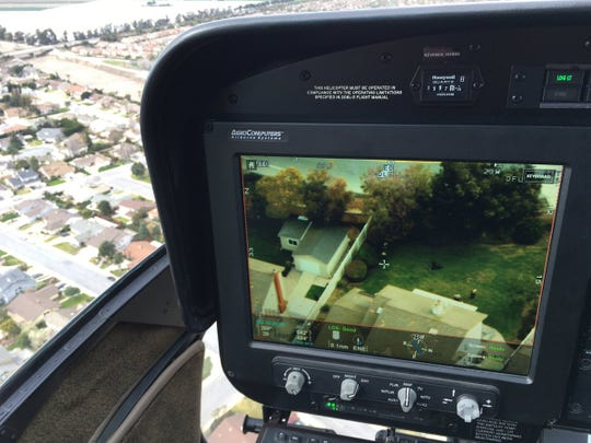 A Ventura County Sheriff's helicopter crew helped locate a suspect who fled on foot in Camarillo Sunday morning.