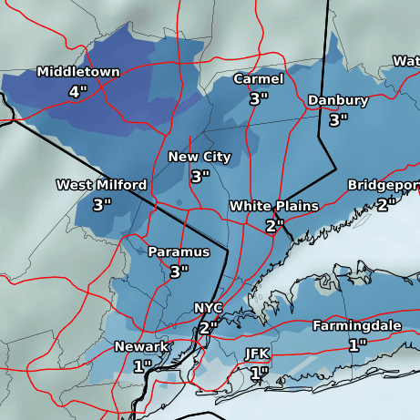 Two snowstorms could mean slippery morning commutes this week; first one starts tonight