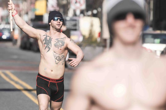 The inaugural Cupid's Undie Run was held in Wilmington on Saturday, Feb. 16, 2019. The event started at the Queen, and participants ran down Market Street. Proceeds go toward finding a cure for neurofibromatosis, a genetic tumor disorder.