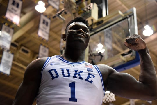 Duke forward Zion Williamson scored 32 points, three points shy of his season high, against N.C. State.