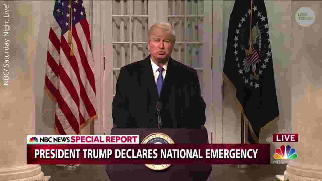 Baldwin returns to 'SNL' to mock Trump's press conference