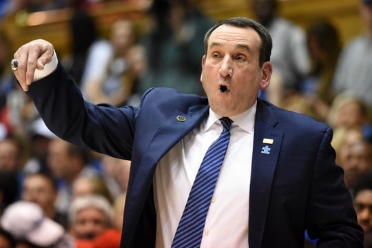 Duke coach Mike Krzyzewski believes former player RJ Barrett would 'flourish' in New York.