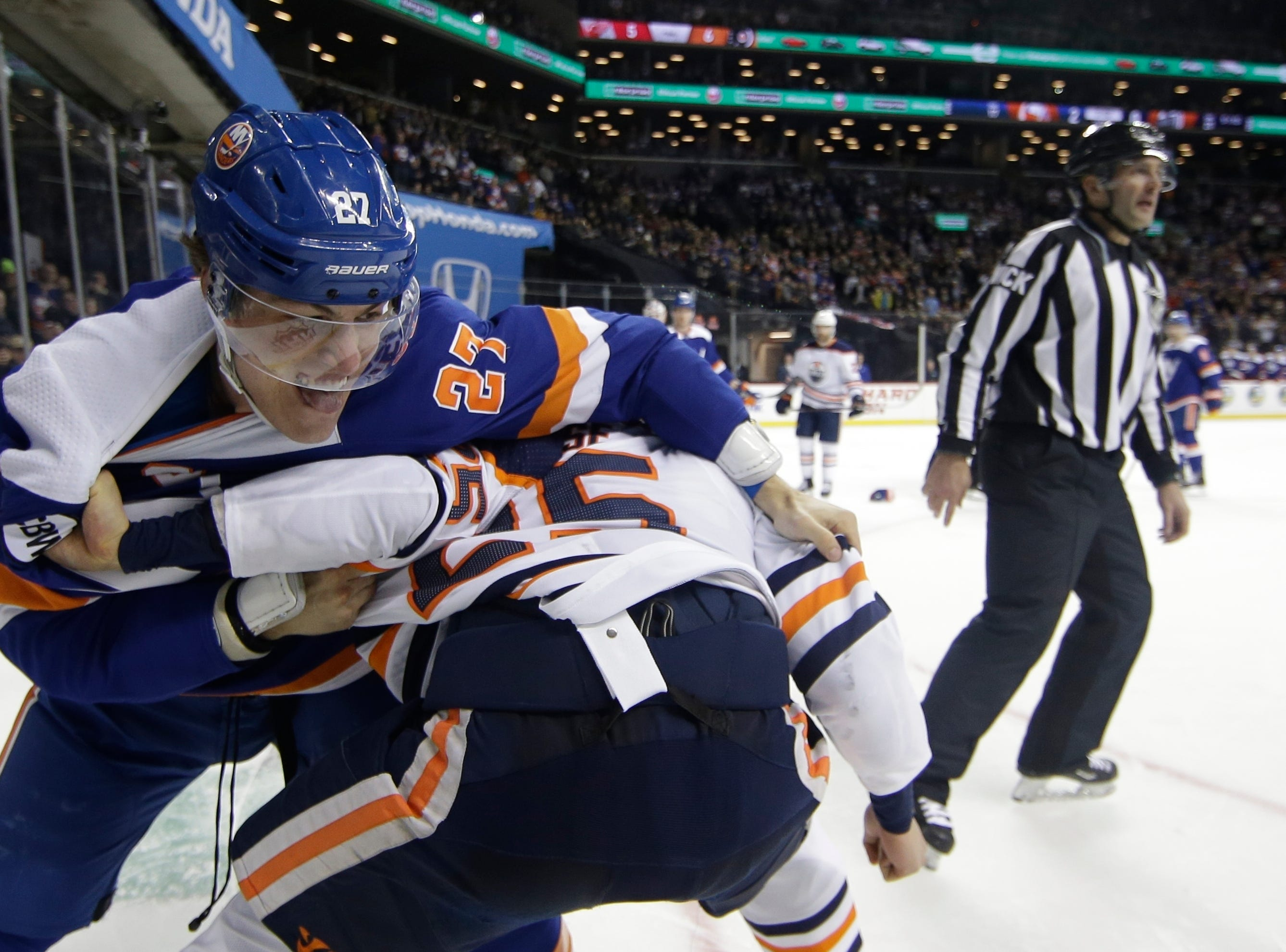 Feb. 16: New York Islanders' Anders Lee vs. Edmonton Oilers' Darnell Nurse.