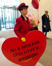 At an Amazon office in New York on Feb. 14, 2019.