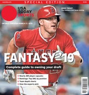 Mike Trout is one of four different cover subjects for USA TODAY Sports' annual fantasy baseball special issue, on newsstands now.