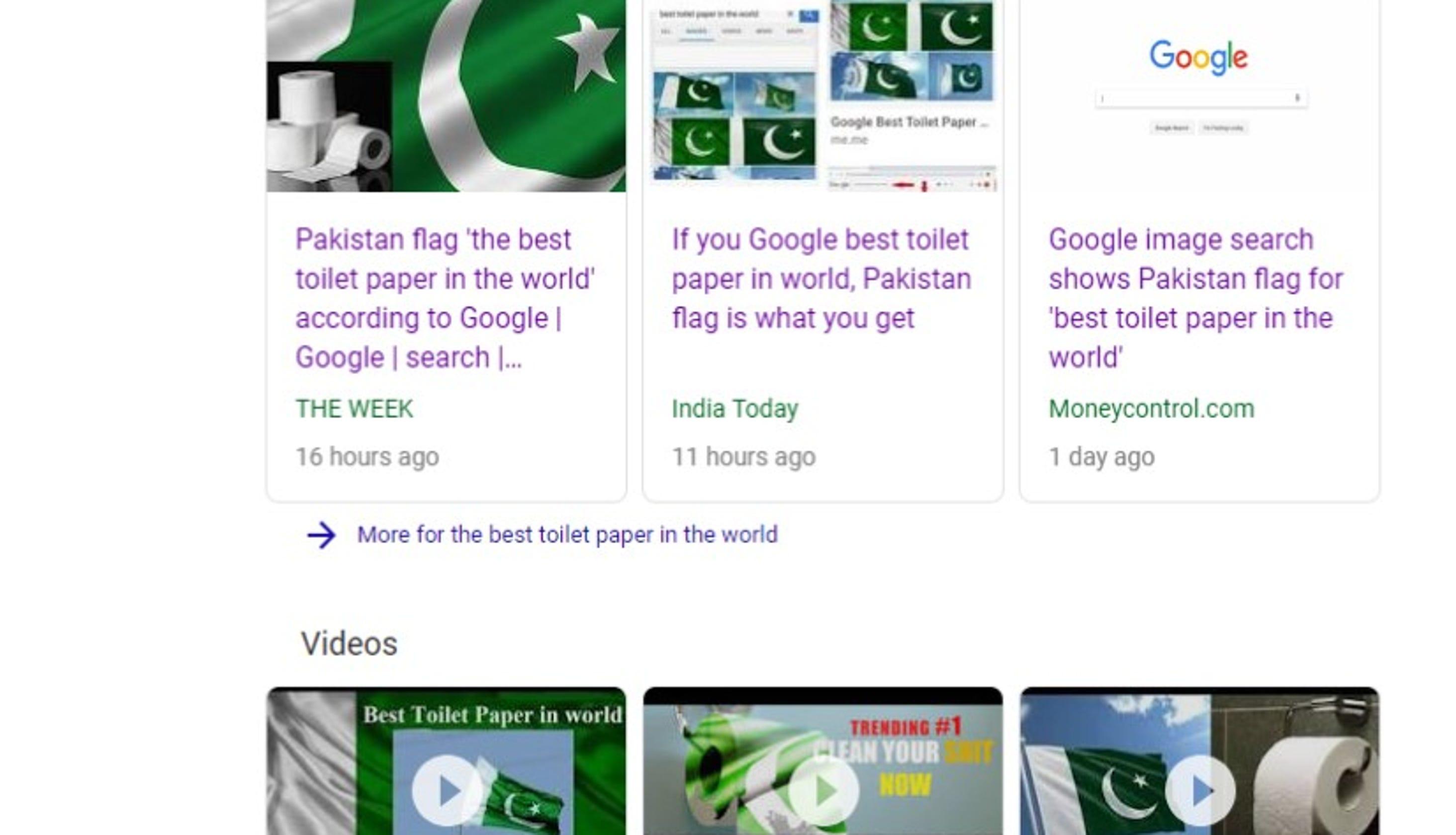 Google It Pakistan Flag Tops Best Toilet Paper Search