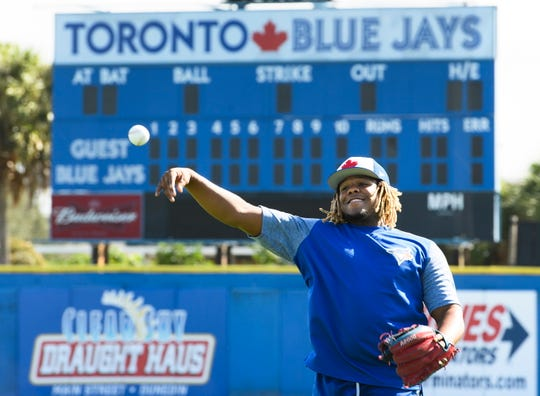 All eyes at Blue Jays camp in Dunedin, Fla., this spring will be on rookie Vladimir Guerrero Jr., who hit .381 in the minors last season.