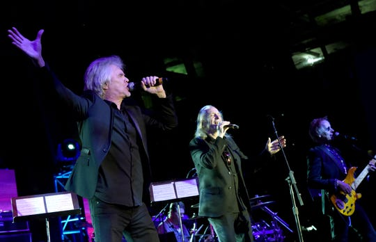 Danny Hutton and David Morgan of Three Dog Night perform onstage at the Creative Artists Agency Party in Nashville in 2016.