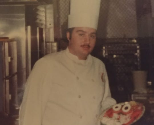 Chef Jim Vena is pictured in 1981 in the room service kitchen of the Waldorf Astoria in New York City.