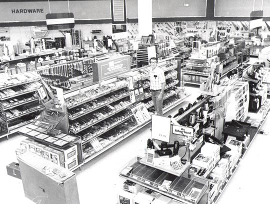 Charles Willman, zone merchandise manager, in the hardware department of the Sears store in the Mall of Abilene.