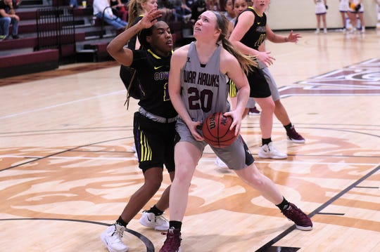 McMurry's Sarah Doherty (20) and the War Hawks will face ASC East division champion Texas-Dallas in the first round of the conference tournament at 2:30 p.m. Thursday.