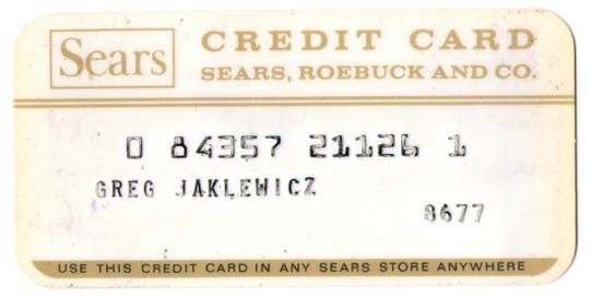 First credit card.
