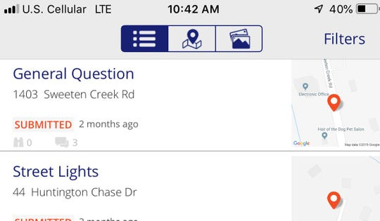 A reader notes that some Asheville App requests for service have gone unanswered for two months.