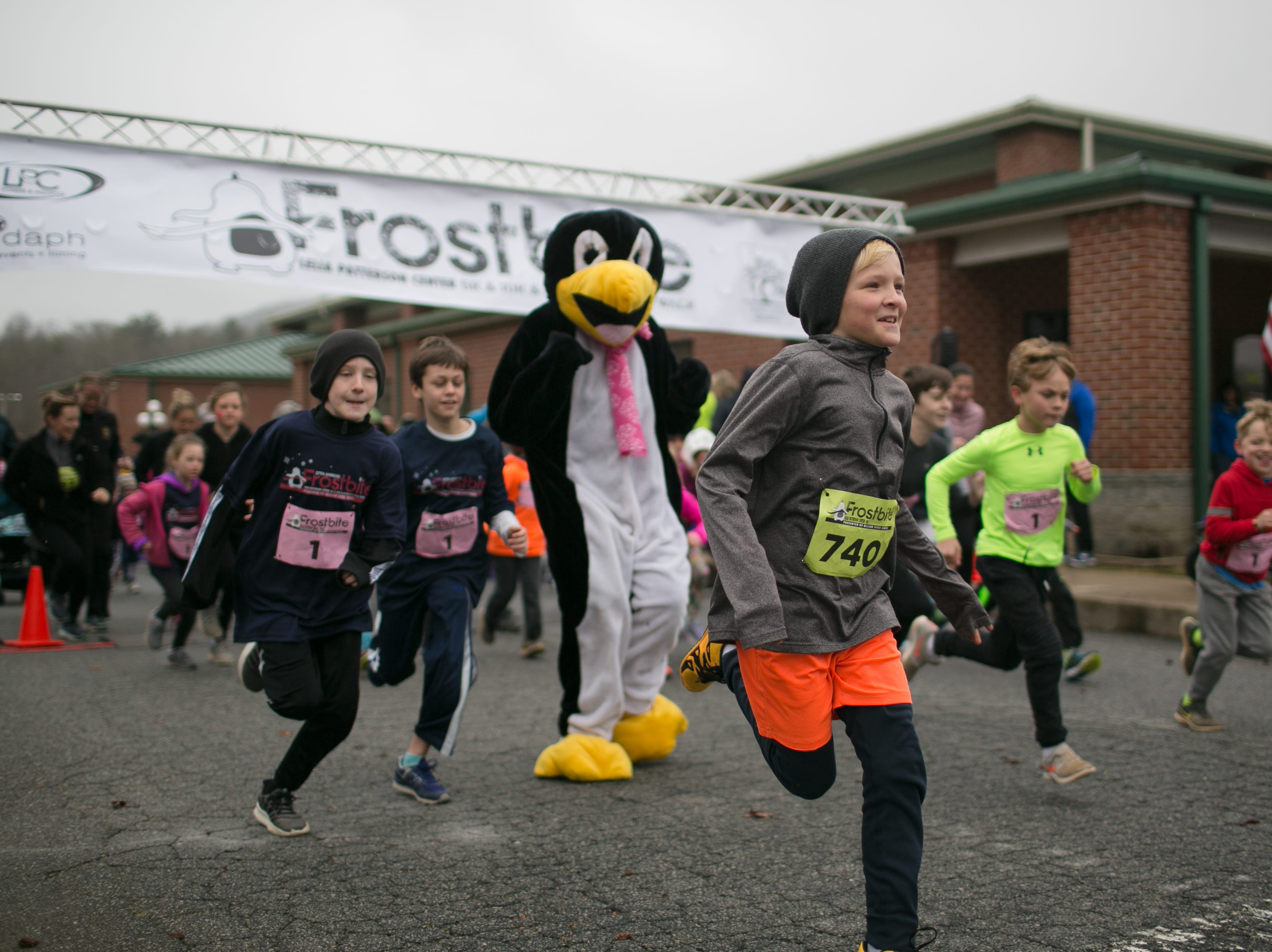 Scenes from the 27th Annual Frostbite 10K, 5K and Fun Run on Feb. 17, 2019, at the Lelia Patterson Center in Fletcher.