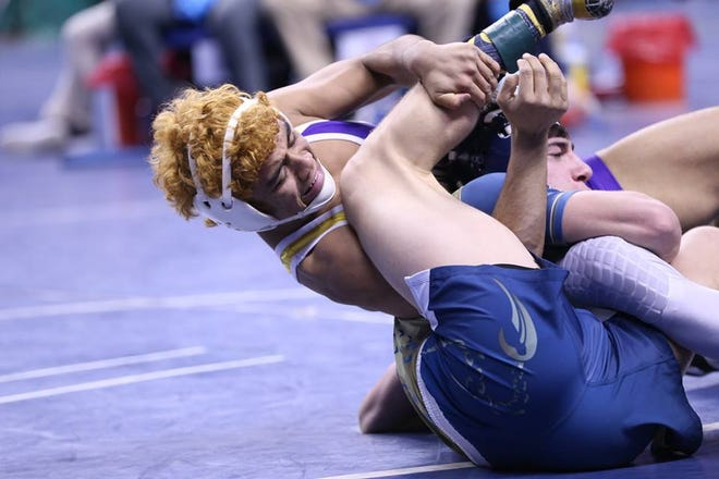 Scenes from the NCHSAA state wrestling meet