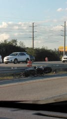 Motorcyle crash on Interstate 95 leaves one dead.