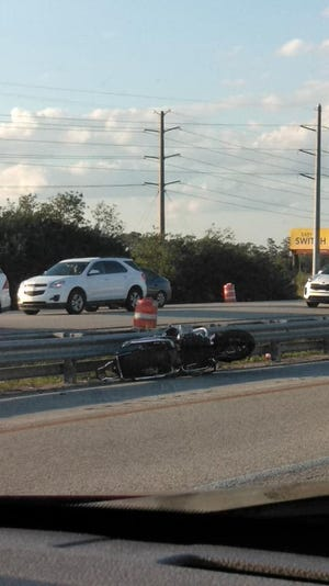 Motorcyle crash on Interstate 95 leaves one dead.