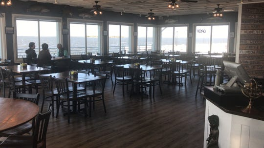 The dining room at Pier 220 is immaculate, with plenty of windows overlooking the Indian River.