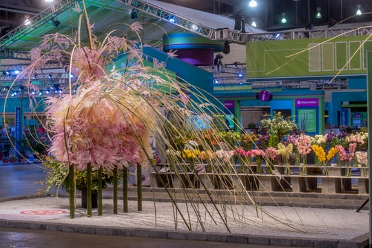 The Philadelphia Flower Show is known for its extravagant floral designs.