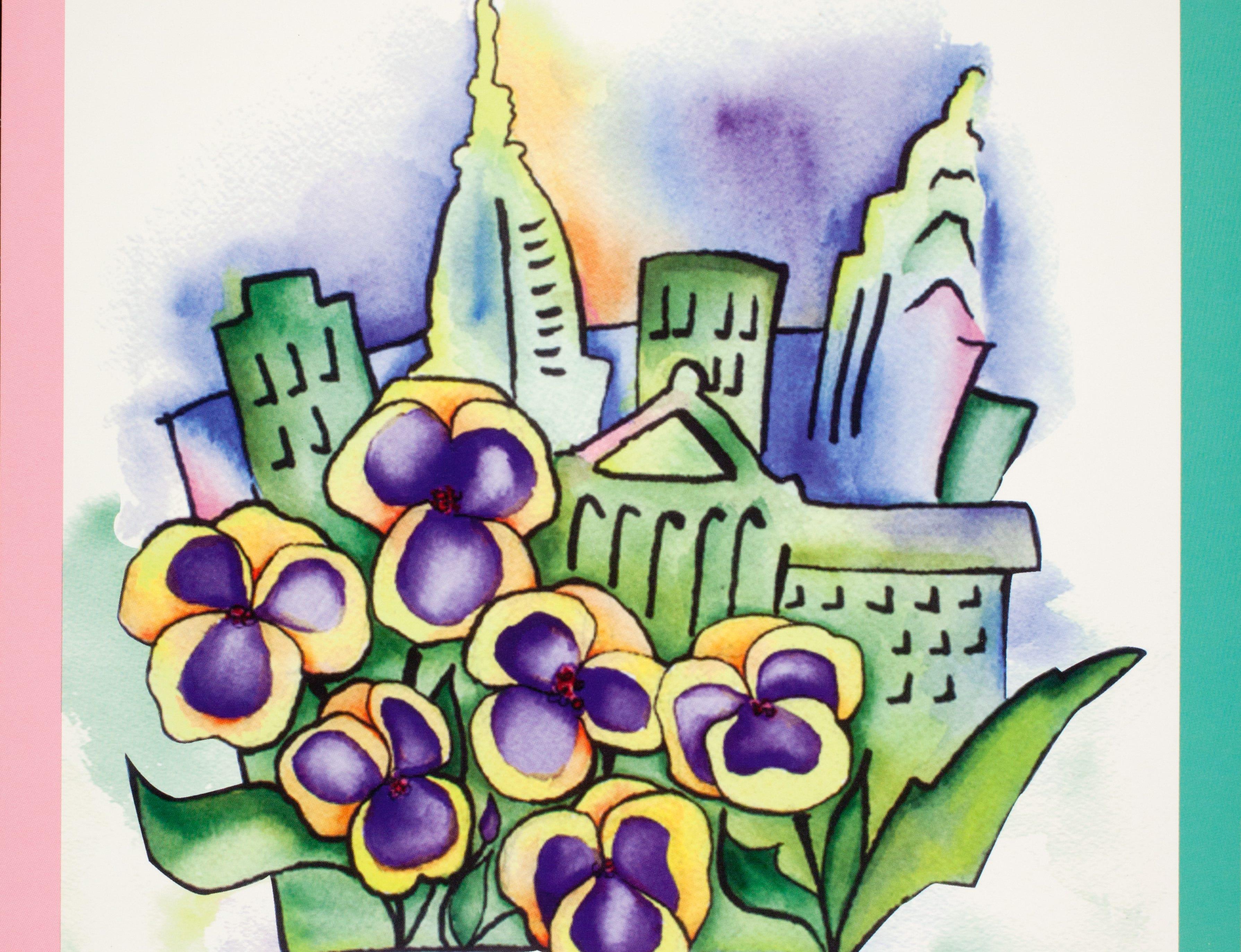 A poster for the 1996 Philadelphia Flower Show.