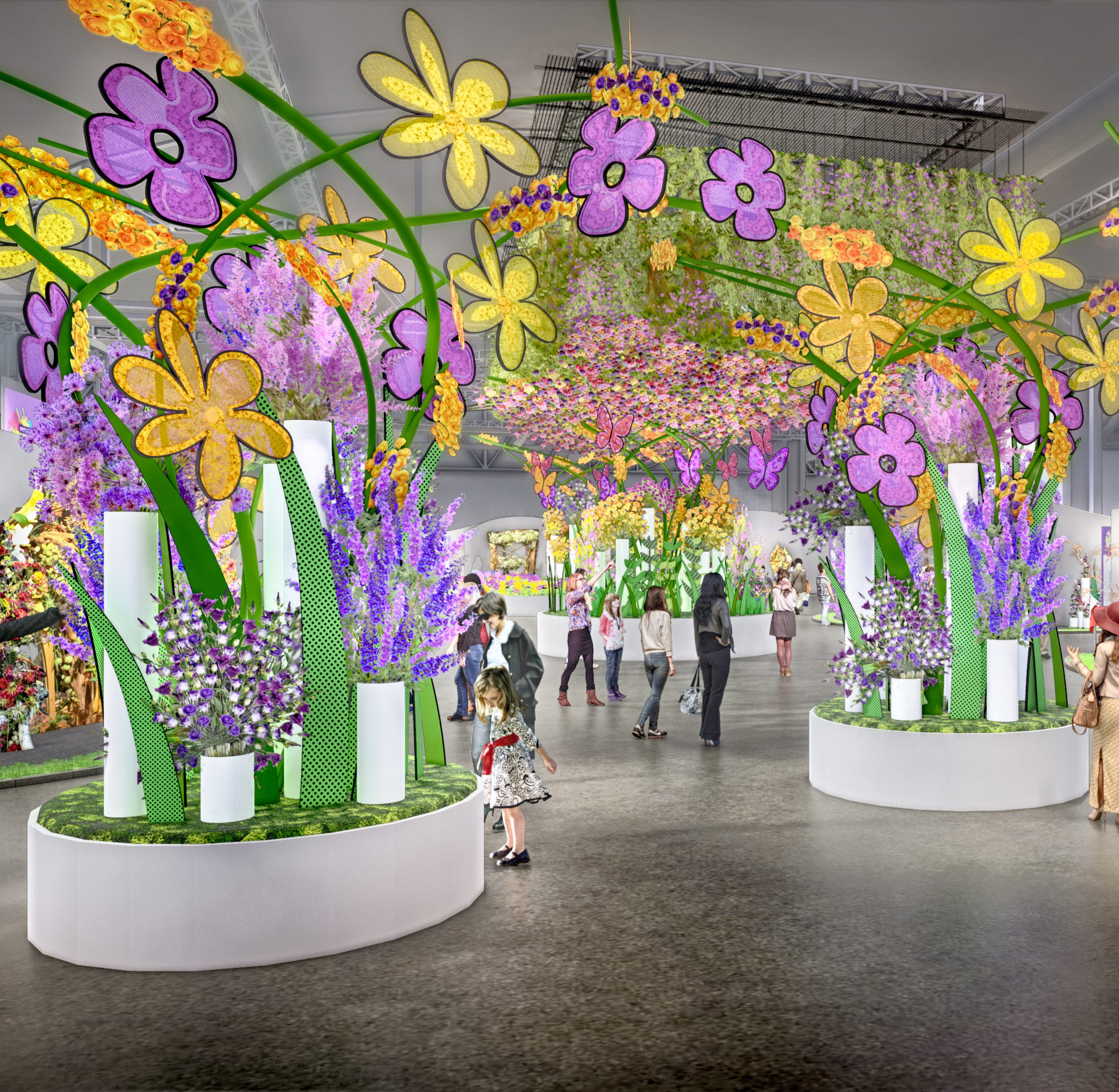 Pop art, Woodstock era energize 2019 Philadelphia Flower Show