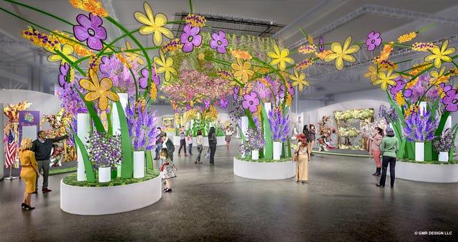 The entrance of the 2019 Philadelphia Flower Show.