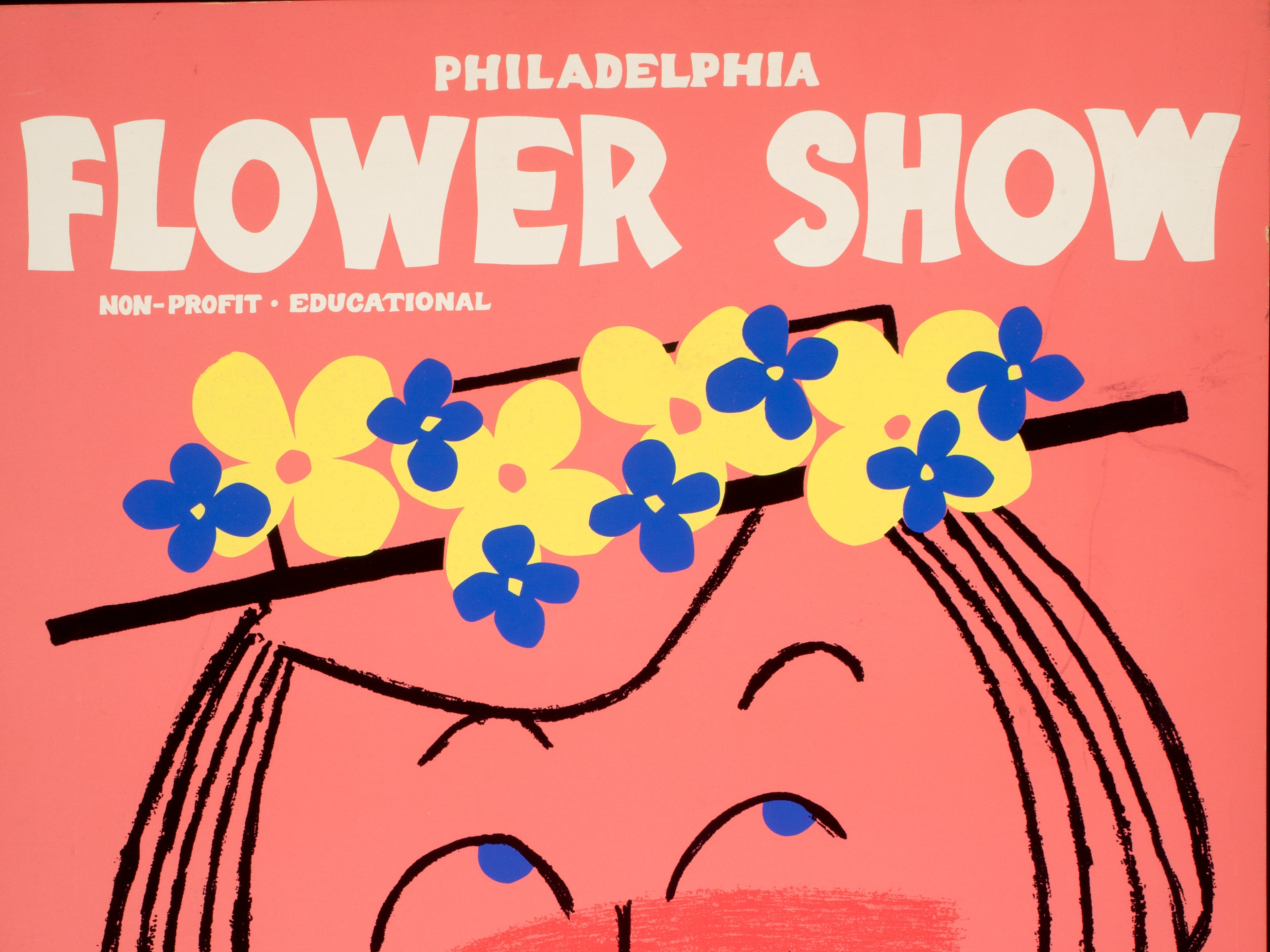 A poster for the 1956 Philadelphia Flower Show.