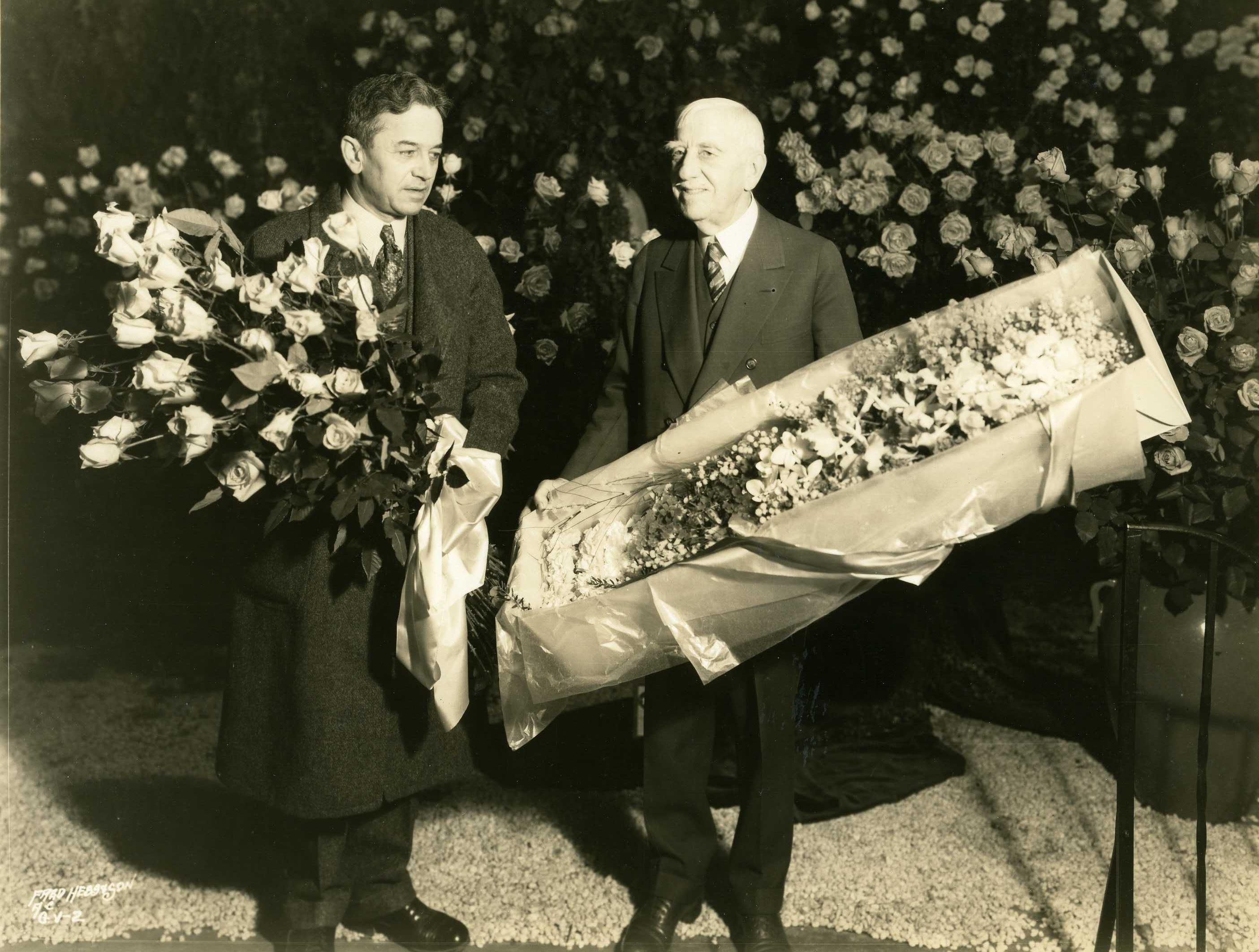 Flowers for Eleanor Roosevelt in 1933 at the Philadelphia Flower Show.