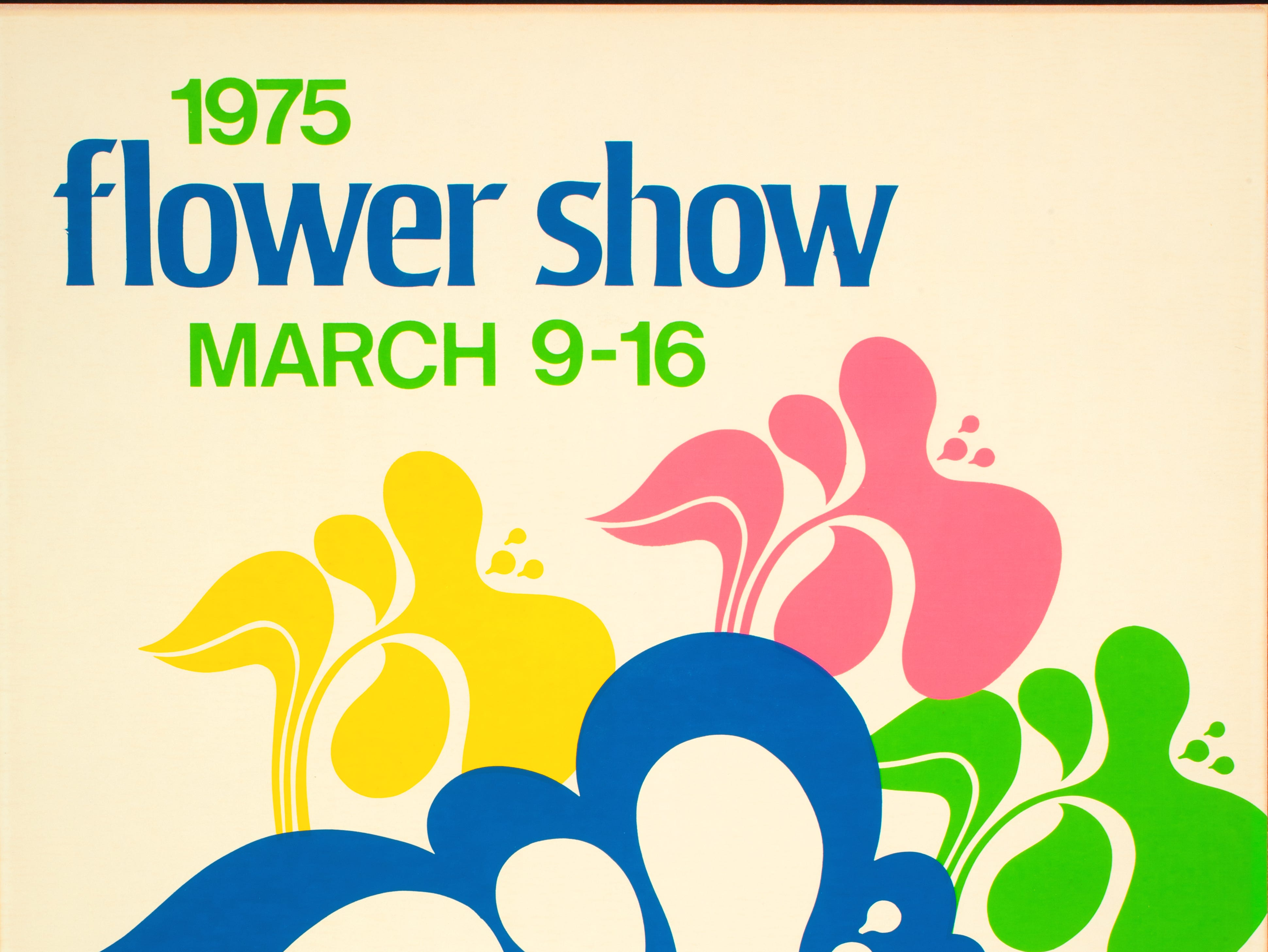 A poster from the 1975 Philadelphia Flower Show.