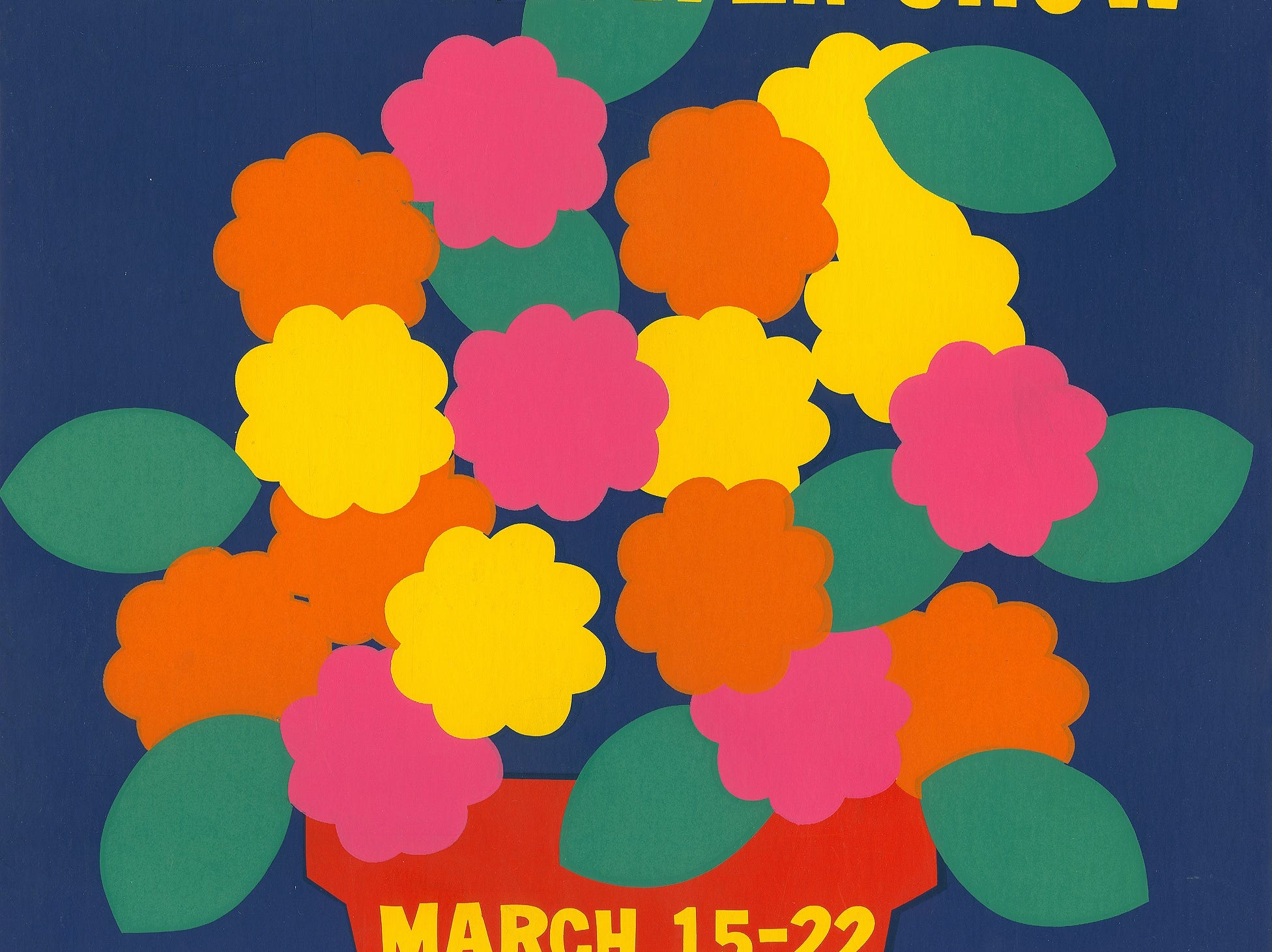 A poster from the 1970 Philadelphia Flower Show.
