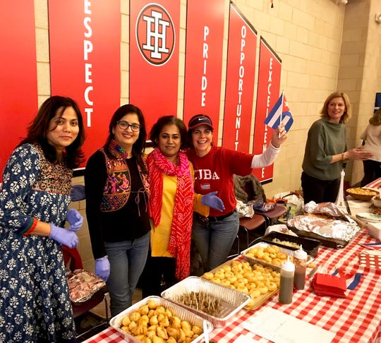 Authentic foods of many cultures served in the high school cafeteria highlighted the Global Cultural presentation at Indian Hill High School.