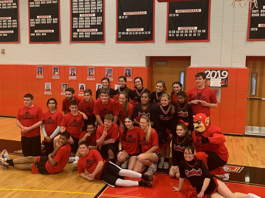Hunterdon Central's Unified basketball team played its first game last week against Voorhees.