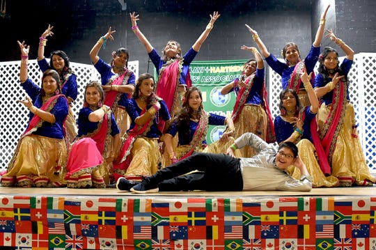 Wardlaw+Hartridge moms perform the dance finale at International Family Fun Night.