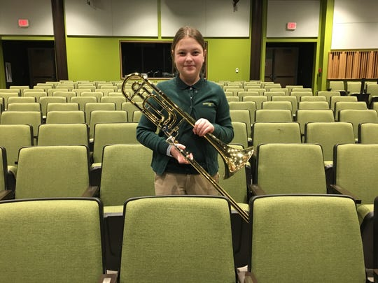 Vanessa Fang of Edison selected to CJMEA band on Trombone.