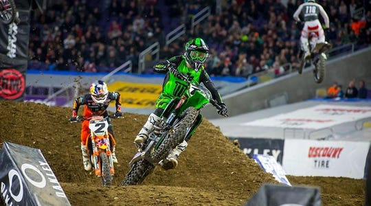 Off-road motorcyclists will tackle obstacles and dirty track at Ford Field.