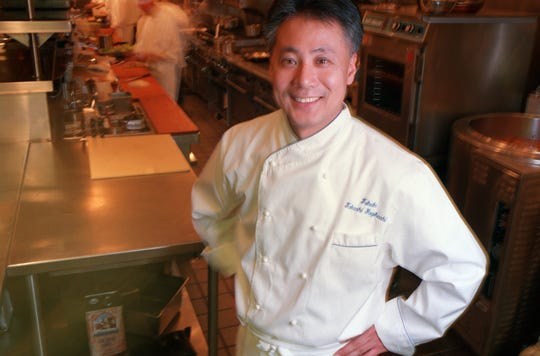 Takashi Yagishashi in the kitchen of Tribute in Farmington Hills in 2001.