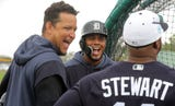 Sights and sounds from Detroit Tigers spring training on Tuesday, Feb. 19, 2019, in Lakeland, Fla., including a cameo from Miguel Cabrera.