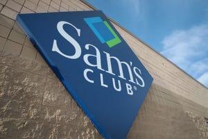 A Sam's Club sign.
