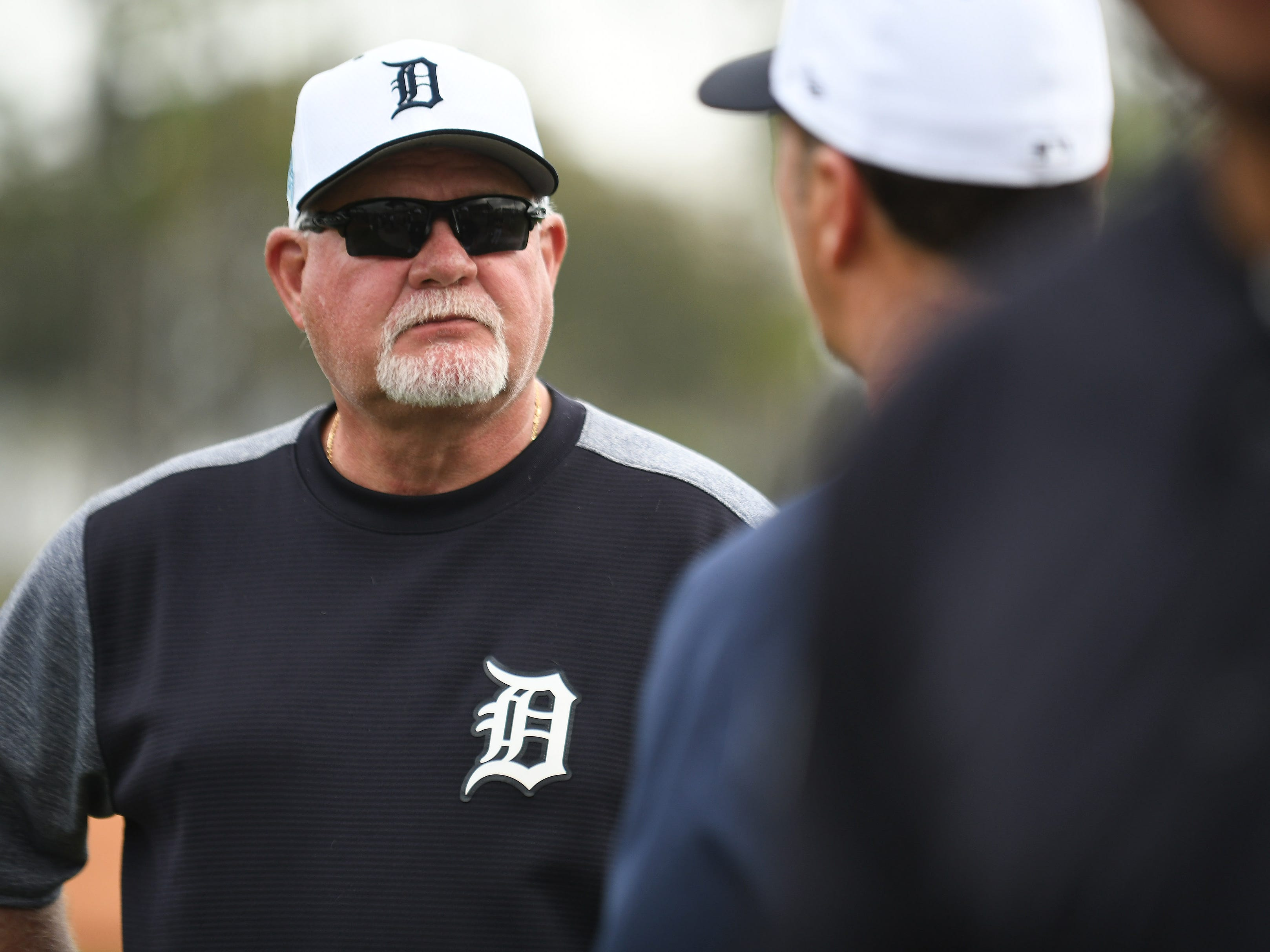 Tigers manager Ron Gardenhire oversees batting practice.
