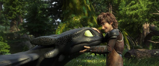 "Jay Baruchel voices Hiccup in ""How To Train Your Dragon: The Hidden World."""