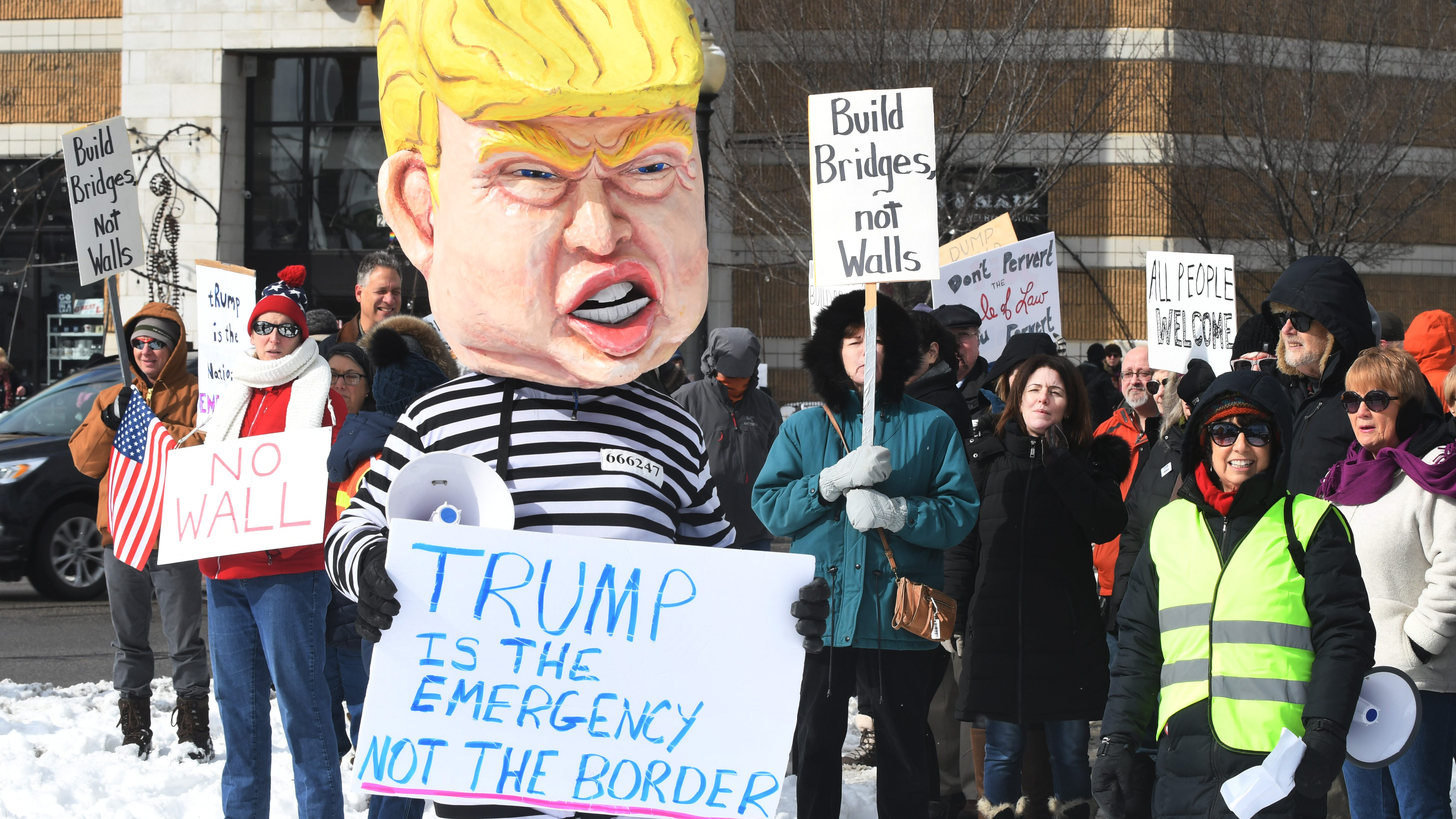 Protest News: Dozens In Ferndale Protest Trump's Declaration Of A Border