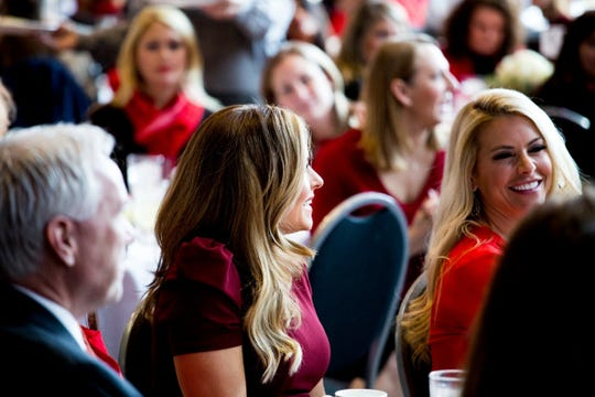 Taryn Asher, left, and Amy Andrews from Fox 2 News at Go Red for Women Luncheon