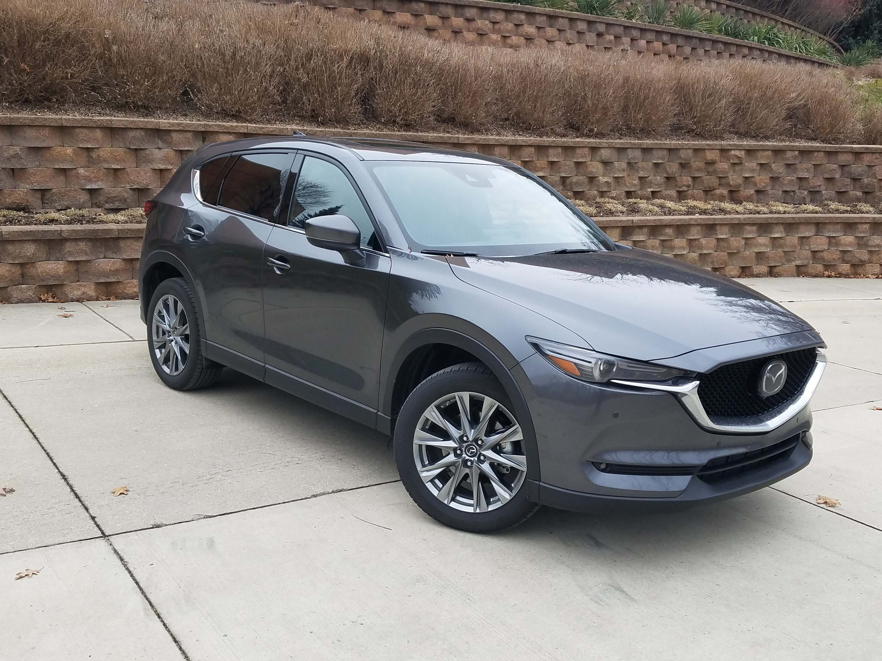 Now that's an SUV. The Mazda CX-5 Signature sports sleek, swept lines — a welcome look in the age of five-door, hatchback SUVs.