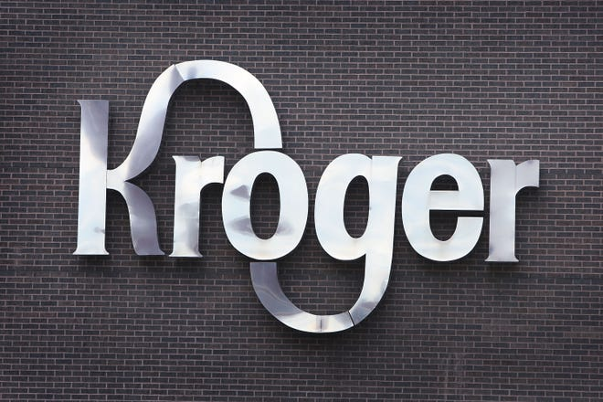 A sign identifies the Kroger Co. corporate headquarters July 15, 2008 in downtown Cincinnati, Ohio.