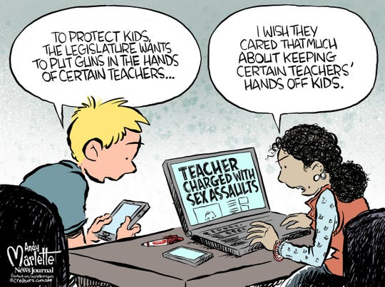 Teachers commentary from Andy Marlette